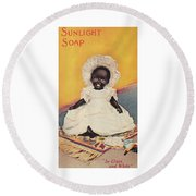 Sunlight Soap So Clean And White Round Beach Towel