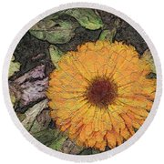 A Touch Of Sunshine Round Beach Towel