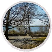 Sunny Afternoon At Lough Coole Round Beach Towel