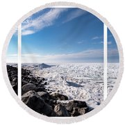 Round Beach Towel featuring the photograph Sunny Afternoon Combined by Onyonet  Photo Studios