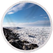 Round Beach Towel featuring the photograph Sunny Afternoon by Onyonet  Photo Studios