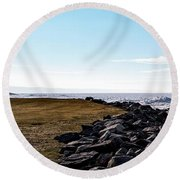 Round Beach Towel featuring the photograph Sunny Afternoon-t1 by Onyonet  Photo Studios