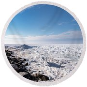 Round Beach Towel featuring the photograph Sunny Afternoon-t2 by Onyonet  Photo Studios