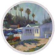 Sunny Day At Crystal Cove Round Beach Towel