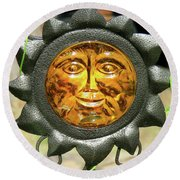 Sunny Face Swirl - Garden Decor Image 4 Round Beach Towel And More Round Beach Towel