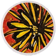Sunny Hues Watercolor Round Beach Towel