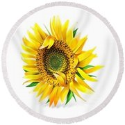 Sunny Round Beach Towel by Now