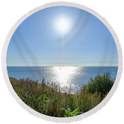 Sunny September Round Beach Towel