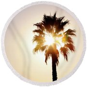 Sunny Southern California Round Beach Towel by Art Block Collections