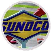 Sunoco Round Beach Towel