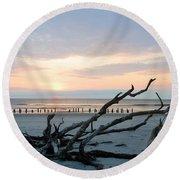 Sunrise @ Pea Island Round Beach Towel