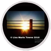 Sunrise @ The Battery Round Beach Towel