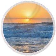 Sunrise 18th Of June Round Beach Towel