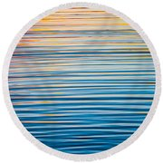 Sunrise Abstract  Round Beach Towel