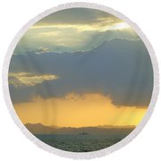 Sunrise After The Typhoon Round Beach Towel