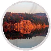 Round Beach Towel featuring the photograph Sunrise And Harmony by Debbie Oppermann