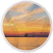 Round Beach Towel featuring the photograph Sunrise And Splendor by Bill Pevlor