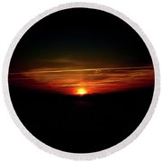 Sunrise Art  Round Beach Towel