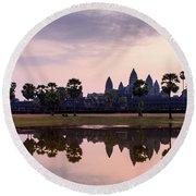 Sunrise At Angkor Wat Round Beach Towel