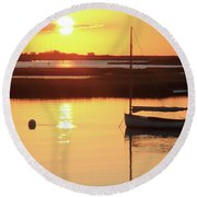 Sunrise At Bass River Round Beach Towel
