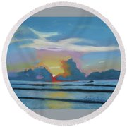 Sunrise At Cape Canaveral Beach Round Beach Towel
