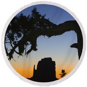 Sunrise At East Mitten Round Beach Towel by Jerry Fornarotto