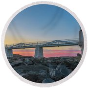 Sunrise At Marshall Point Round Beach Towel