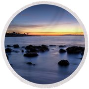 Sunrise At Mitchell's Cove Round Beach Towel