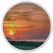 Sunrise At N. Myrtle  Round Beach Towel