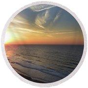 Sunrise At North  Myrtle Beach Round Beach Towel