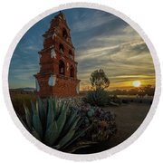 Sunrise At San Miguel Round Beach Towel