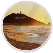 Sunrise At Sugarloaf Point Round Beach Towel