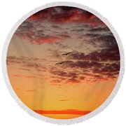 Sunrise At Treasure Island Round Beach Towel by RC Pics