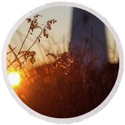 Sunrise Backlight Round Beach Towel
