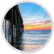 Sunrise Blessing Round Beach Towel