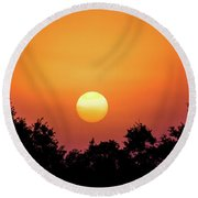 Round Beach Towel featuring the photograph Sunrise Bliss by Shelby Young