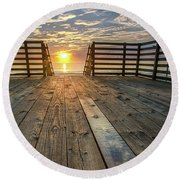 Sunrise Boardwalk Round Beach Towel