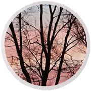Sunrise Branches Round Beach Towel