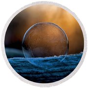 Sunrise Capture In Bubble Round Beach Towel