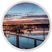 Sunrise Christmas Morning Round Beach Towel