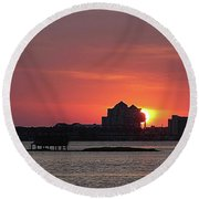 Sunrise Circles The Water Tower Round Beach Towel