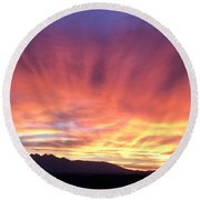 Sunrise Collection #2 Round Beach Towel