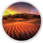 Sunrise-death Valley Round Beach Towel