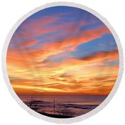 Sunrise Dune I I I Round Beach Towel by  Newwwman
