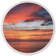 Sunrise From Koko Head Round Beach Towel