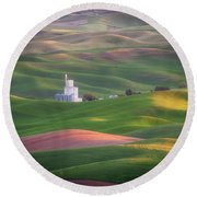 Sunrise From Steptoe Butte. Round Beach Towel