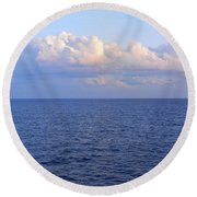 Sunrise From The Atlantic Ocean Round Beach Towel