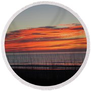 Sunrise Round Beach Towel by Gordon Mooneyhan