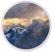 Sunrise Half Dome Round Beach Towel