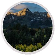Sunrise In Colorado - 8689 Round Beach Towel